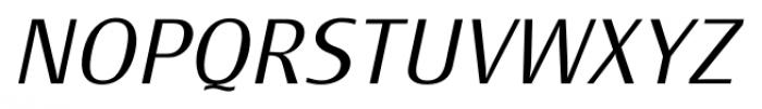 Monem ExtraLightItalic Font UPPERCASE
