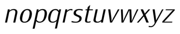 Monem ExtraLightItalic Font LOWERCASE