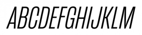 Mongoose Light Italic Font UPPERCASE