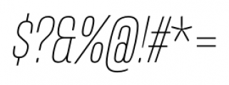 Mongoose Thin Italic Font OTHER CHARS