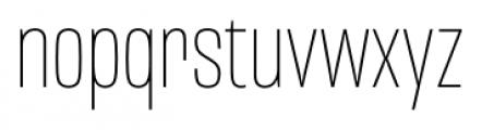 Mongoose Thin Font LOWERCASE