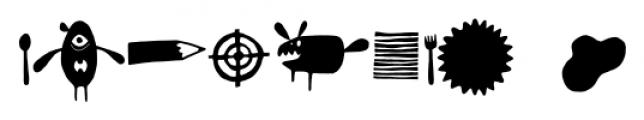 Monstrinhos Regular Font OTHER CHARS