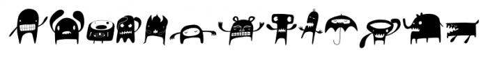 Monstrinhos Regular Font UPPERCASE