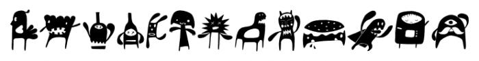 Monstrinhos Regular Font LOWERCASE