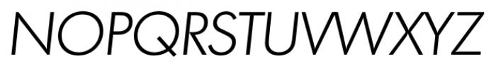 Montreal Serial Light Italic Font UPPERCASE