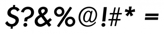 Montreal Serial Medium Italic Font OTHER CHARS