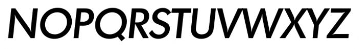 Montreal Serial Medium Italic Font UPPERCASE