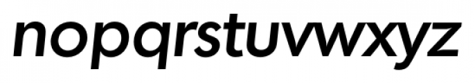 Montreal Serial Medium Italic Font LOWERCASE