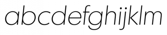 Montreal Serial Xlight Italic Font LOWERCASE