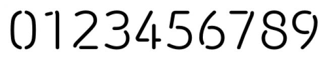 Morebi Rounded Stencil Regular Font OTHER CHARS