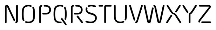 Morebi Rounded Stencil Regular Font UPPERCASE