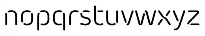 Morebi Rounded Stencil Regular Font LOWERCASE