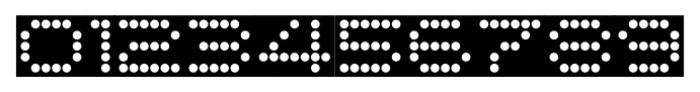 Moving Message JNL Regular Font OTHER CHARS