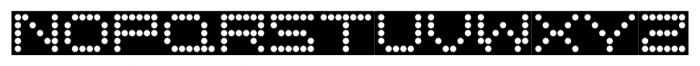 Moving Message JNL Regular Font UPPERCASE