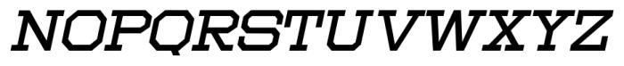 Moving Van Oblique JNL Regular Font UPPERCASE