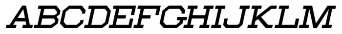 Moving Van Oblique JNL Regular Font LOWERCASE