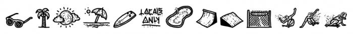 Movskate California Font LOWERCASE