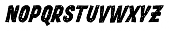 Movskate Hardgrip Italic Font UPPERCASE