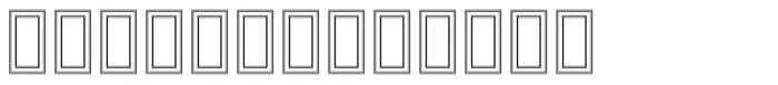 MODERN Hollow Font UPPERCASE