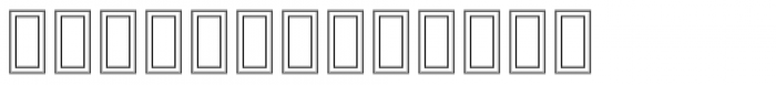 MODERN Hollow Font LOWERCASE