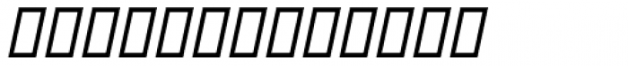 MODERN Italic Font LOWERCASE