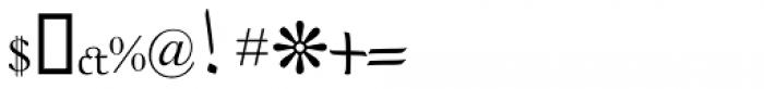 MODERN Regular Font OTHER CHARS