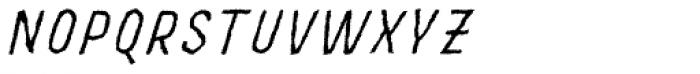 MOVSKATE Slide Italic Font UPPERCASE