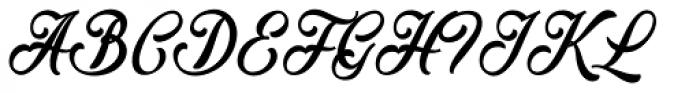 Mochary Font UPPERCASE