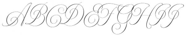 Model Standard Three Font UPPERCASE