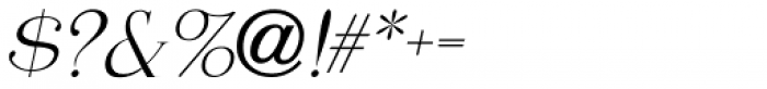 Moderator Oblique JNL Font OTHER CHARS