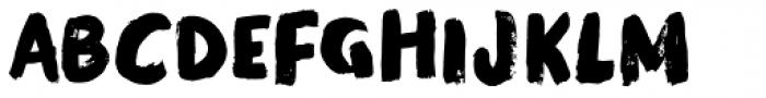 Modern Brush Font UPPERCASE