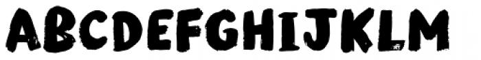 Modern Brush Font LOWERCASE