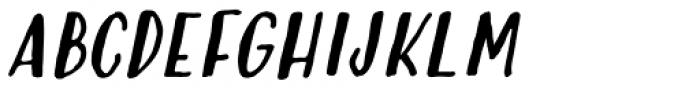 Modern Love Caps Slanted Font UPPERCASE