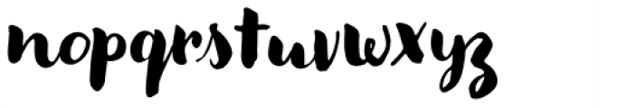 Modern Love Regular Font LOWERCASE