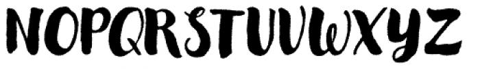 Modern Love Rough Font UPPERCASE