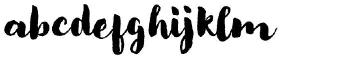 Modern Love Rough Font LOWERCASE