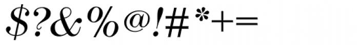 Modern No. 216 Light Italic Font OTHER CHARS
