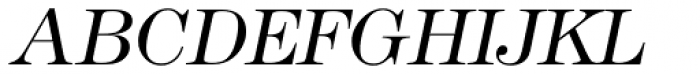 Modern No. 216 Light Italic Font UPPERCASE