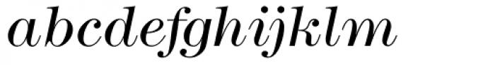 Modern No. 216 Light Italic Font LOWERCASE