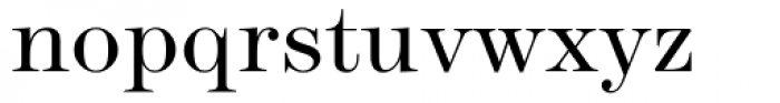 Modern No. 216 Light Font LOWERCASE