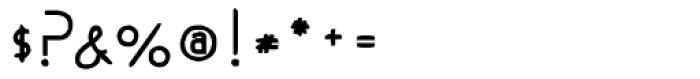Modern Slim Font OTHER CHARS