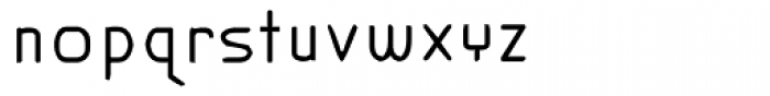 Modern Slim Font LOWERCASE