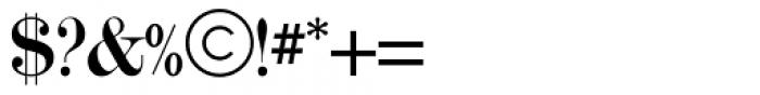 Modern Twenty Font OTHER CHARS