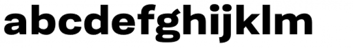 Moderna Sans Ext Bold Font LOWERCASE