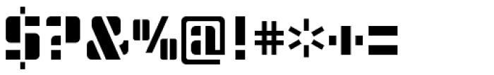Modernist Stencil Font OTHER CHARS