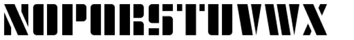 Modernist Stencil Font UPPERCASE