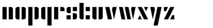 Modernist Stencil Font LOWERCASE