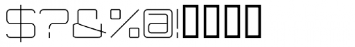 Modernist Font OTHER CHARS