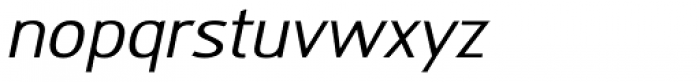 Modesta Book Italic Font LOWERCASE