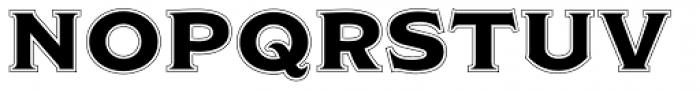 Modesto Initials Inline Font LOWERCASE